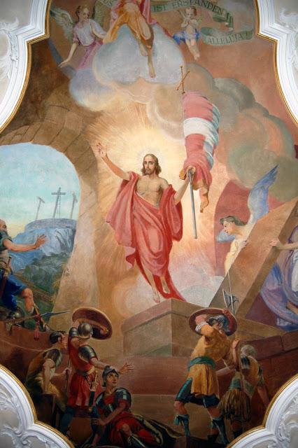 Deckenbild Kirche St. Stefan Munzingen, Jesus triumpfiert.