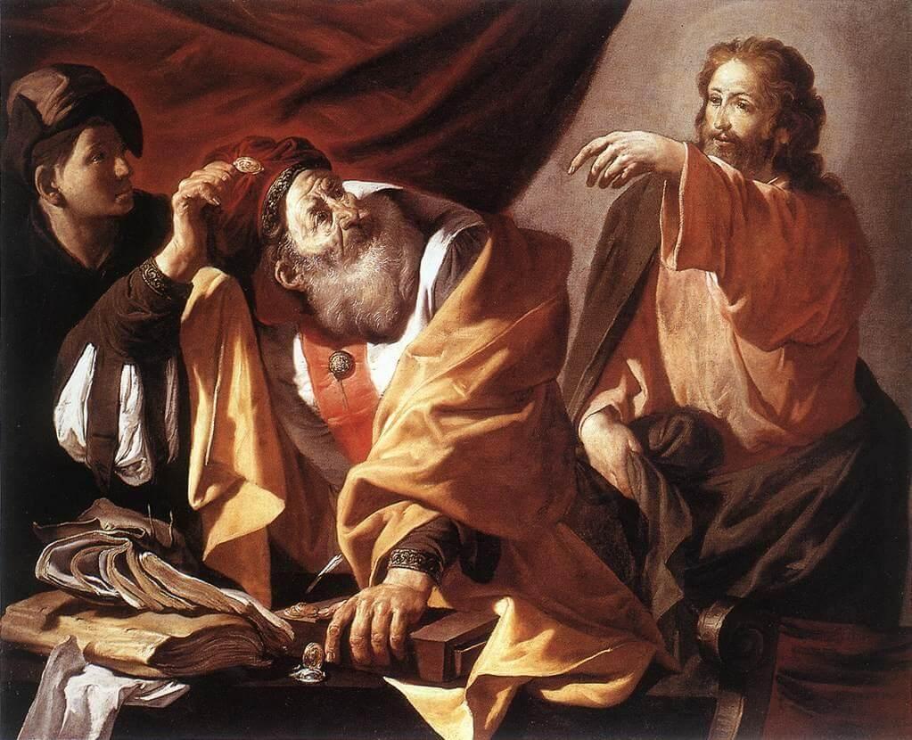Jesus begegnet den Pharisäern.