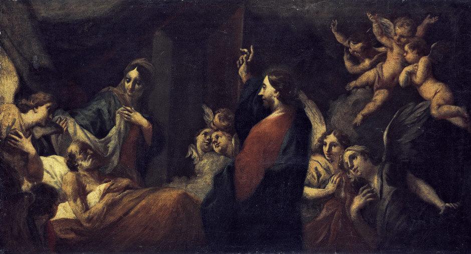 Christus heilt den Kranken.